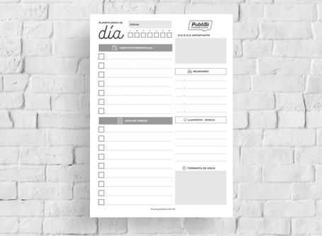Optimizá tu rendimiento planificando tu día!