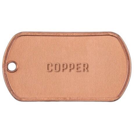 MILSPEC COPPER DOG TAG