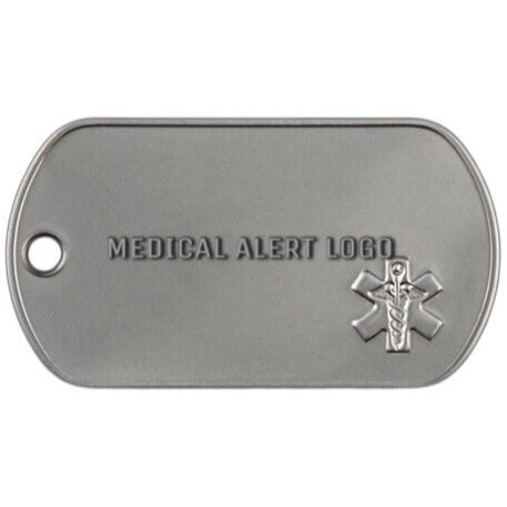 G.I. STAINLESS STEEL MEDICAL LOGO ALERT DULL