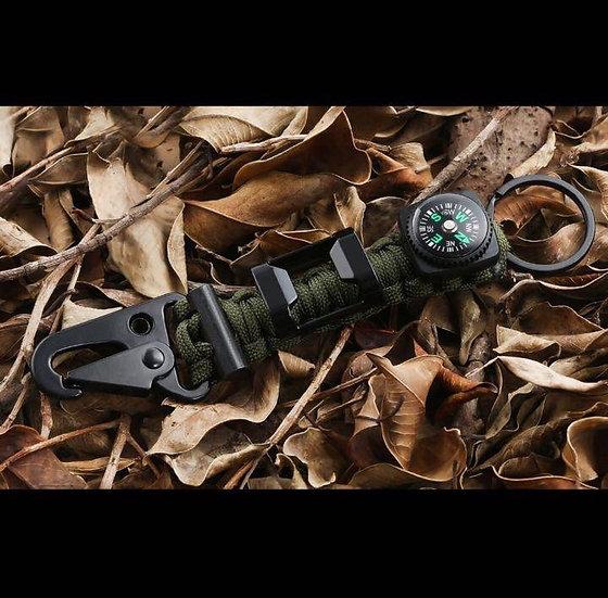 Paracord Survival Key Holder (Black/Army Green/Desert camo)