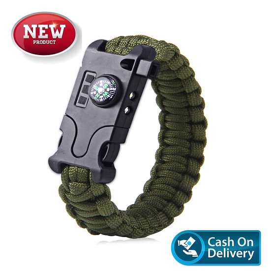 SOS type 2 Survival Bracelet ARMY GREEN