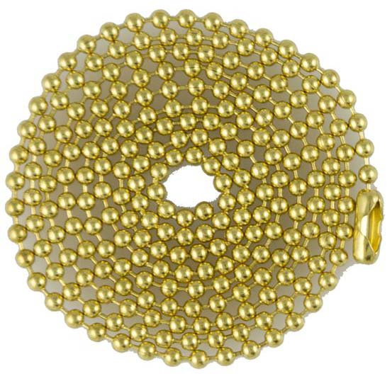 Brass 04.5 inch to 24 inch Ball Chain