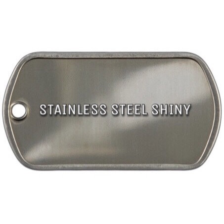 STAINLESS STEEL SHINY (half tag)