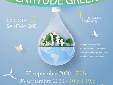 Festival Latitude Green - Samedi 26/09/2020 - La Côte St André
