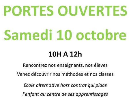 Portes ouvertes - Samedi 10 octobre 2020