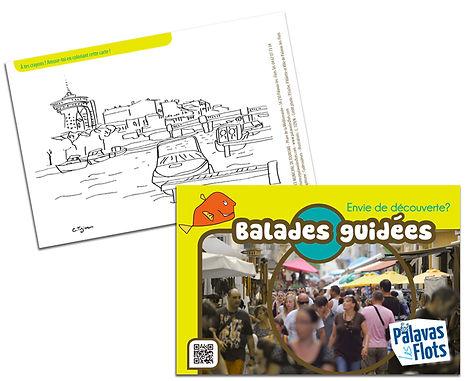 "Illustration : Carte ""Balades"" tourisme"