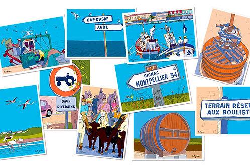 Lots de 10 cartes-postales Hérault 1