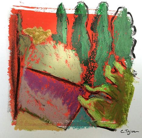 """""""Lot"""" Pastel à l'huile et acrylique.©TIZIEN"""