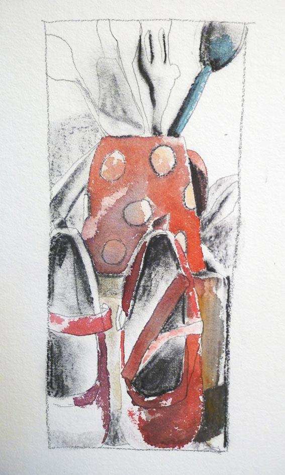 Fusain & aquarelle