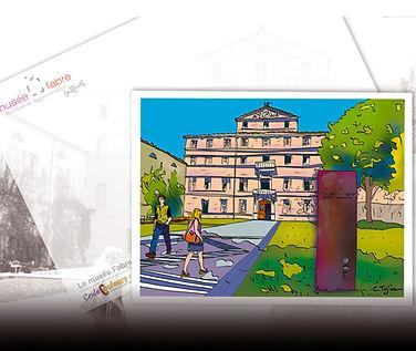 "Illustration : Carte postal ""Musée Fabre"""
