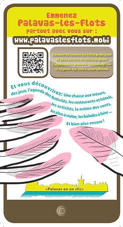 "Illustration : flyer ""Appli tourisme"""