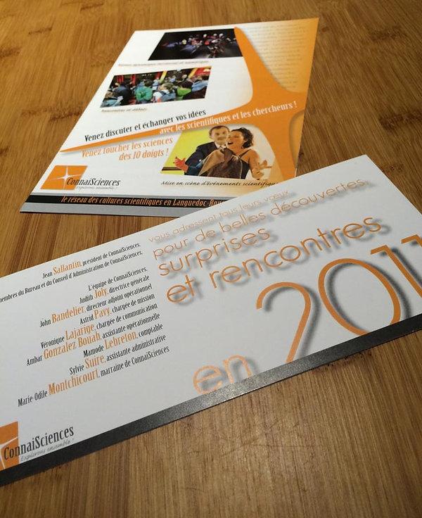 Création charte graphique brochure, cart de vœux, logo