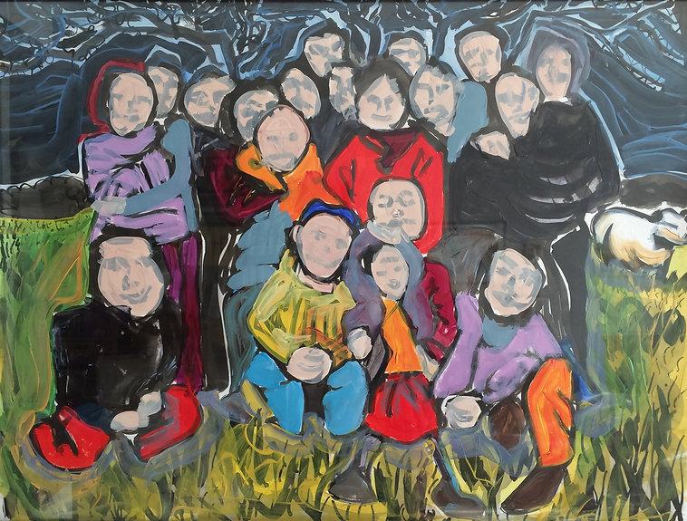 """""""Portrait de famille"""" Acrylique.©TIZIEN"""