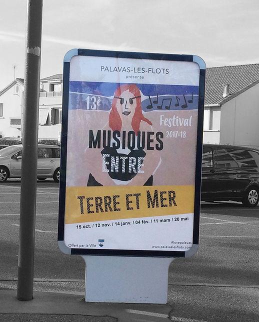 Affiche abribus Festival de Musique