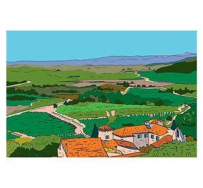 """Illustration : Carte postale """"Lac du Salagou"""""""
