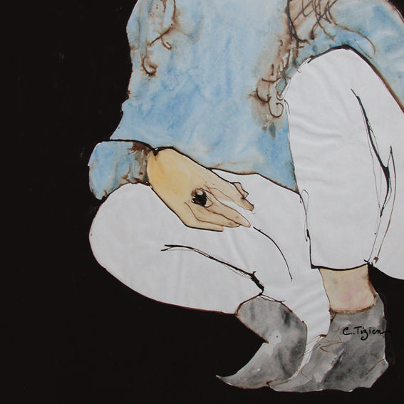 Techniques mixtes (encre de chine, brou de noix et aquarelle).©TIZIEN