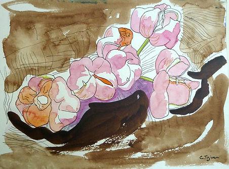 Dessin au brou de noix, feutre et aquarelle.©TIZIEN