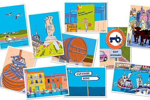 Lots de 10 cartes-postales Hérault 2
