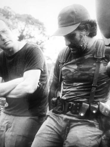 Con Edén Pastora, el Comandante Cero, en Nicaragua en 1983