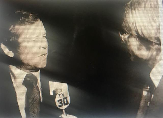 Con el senador Howard Baker, de Tennessee, en Hartford, Connecticut en 1978