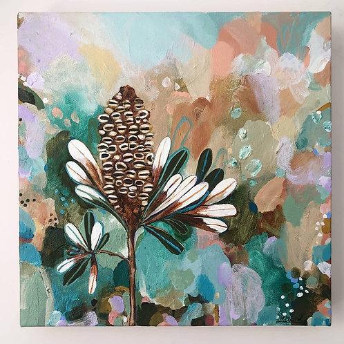 Rainbow Banksia - Framed Original