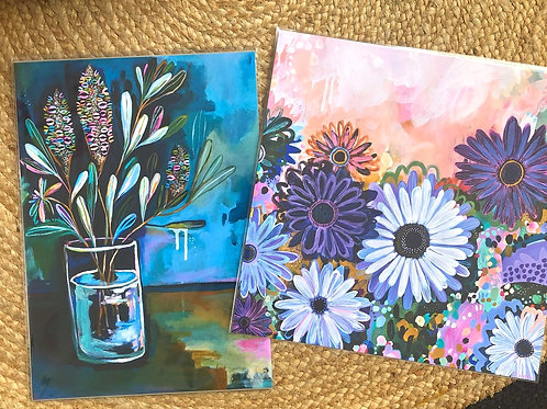 Christmas Print package- Daisies and Banksias