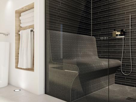 Comfortabel douchen met Qboard® zitmeubel op maat