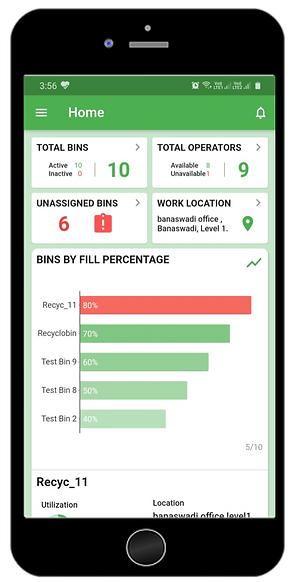 recyclobin smart assist- smart iot app-w