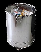 RecycloBin wheeled steel garbage bin-min