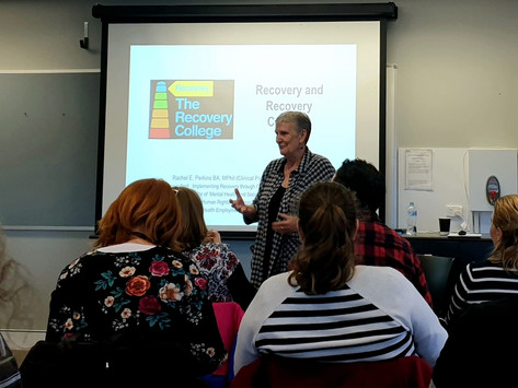 Rachel Perkins on matters Recovery and Recovery Colleges