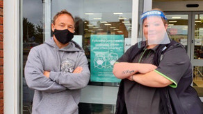 Acting legend Stephen Graham dons a face mask at Central England Co-op store