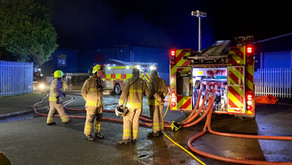 Fire crews tackle blaze at a waste recycling plant in Coalville.
