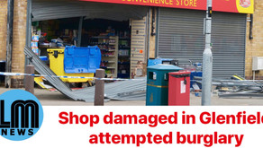 Shop damaged in Glenfield attempted burglary