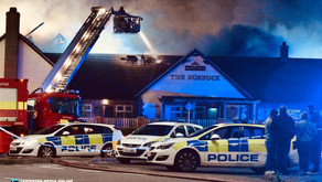 Inferno rips through pubs roof in Market Harborough