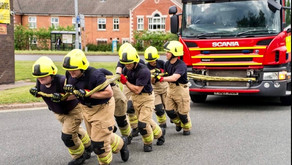 Firefighters Gear-Up to Pull Fire Engine for Charity