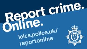 If it's not 999 report it online.
