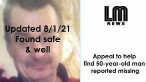 Appeal to help find 50-year-old man reported missing