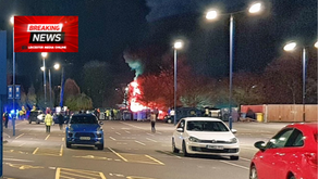 Helicopter Crashes at Leicester City Football club.