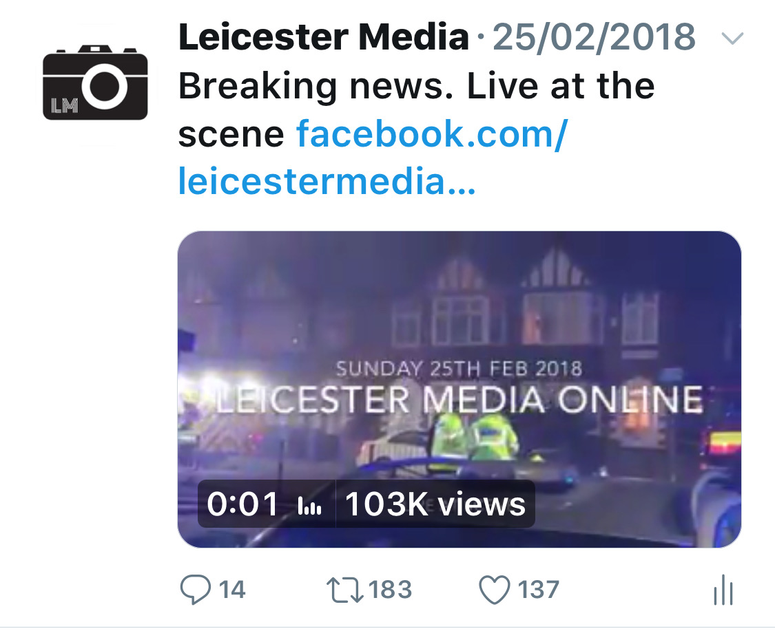 LEICESTER MEDIA TWITTER