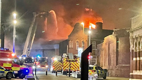 Over 10 fire crews fight blaze overnight in commercial garage