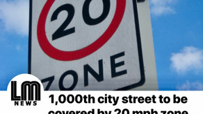 Work completed on 1,000th city street to be covered by 20 mph zone