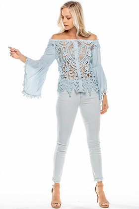Boho Lace Blouse Designer Top