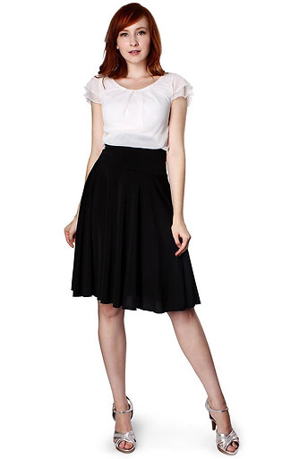 Double Sleeves Pleat Top and Skirt