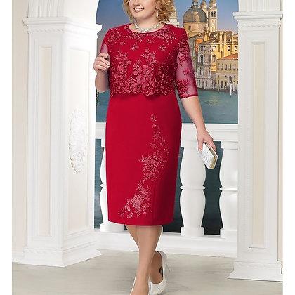 Lace Elegant Plus Size Dress