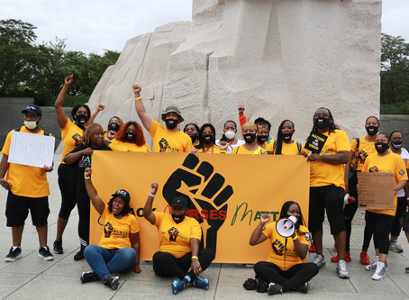 Black Nurses take to the Streets of Washington D.C.