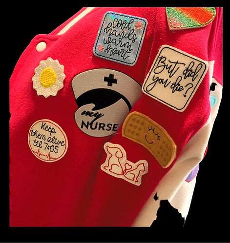 My Nurse Health Heroes Patchwork Jacket