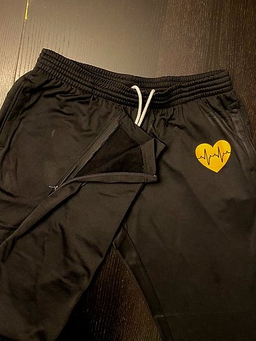 MND Black and Yellow Joggies