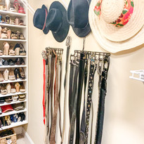 Wall space for hats and belts