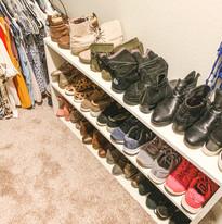Custom Shoe Shelf