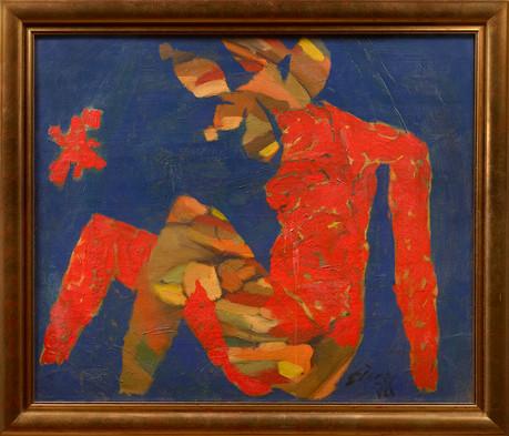 Husain_Blue Abstract (Framed)_mr.jpg